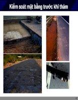Slide chuyên đề kiểm soát mặt bằng trước khi thảm bê tông nhựa