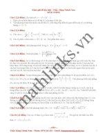 Đề thi thử toán thầy đặng thành nam_đề số 9