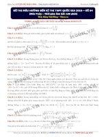 Đề thi thử đại học môn toán thầy Đặng Việt Hùng