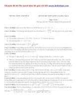 Đề thi thử THPT quốc gia môn toán trường THPT anh sơn II   lần 1   năm 2016 file word có lời giải chi tiết