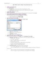 Hướng dẫn thực hành Excel 2010 Phần 1