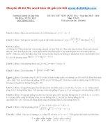 Đề thi thử THPT quốc gia môn toán trường THPT chuyên lê quý đôn   bà rịa vũng tàu   năm 2016 file word có lời giải chi tiết