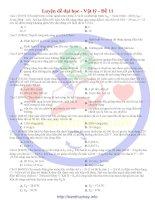 30 đề luyện thi đại học môn vật lí đề số 11