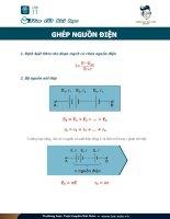 Ghép nguồn điên vật lý 11