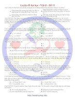 30 đề luyện thi đại học môn vật lí đề số 12