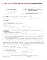 Đề thi thử THPT quốc gia môn toán sở GD đt vĩnh phúc   lần 2   năm 2016 file word có lời giải chi tiết