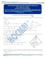Bài tập tính thể tích khối chóp phần 3+4+5  thầy lê bá trần phương