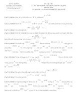 Đề thi thử môn toán 2016 thầy đoàn trí dũng