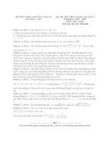 Đề thi thử môn toán 2016 trường THPT chuyên lào cai   lần 1