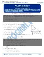 Các vấn đề về góc trong hình không gian phần 3 thầy lê bá trần phương
