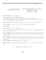 Đề thi thử THPT quốc gia môn toán trường THPT việt yên II   bắc giang   lần 1   năm 2016 file word có lời giải chi tiết