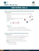 Các dạng bài tập về điện trương phần 2