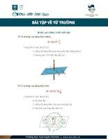 Bài tập về từ trường vật lý 11