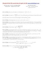 Đề thi thử THPT quốc gia môn toán trường THPT chuyên lê quý đôn   bình định   lần 1   năm 2016 file word có lời giải chi tiết