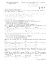 Đề thi thử môn hóa 2016 trường THPT chuyên nguyễn huệ lần 3 mã đề 357