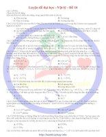 30 đề luyện thi đại học môn vật lí đề số 10