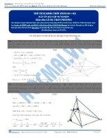 Bài tập tính thể tích khối chóp phần 1+2 thầy lê bá trần phương