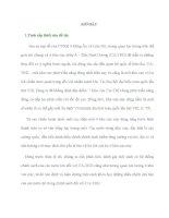 LUẬN ÁN TIẾN SĨ -   TÌNH HÌNH QUAN hệ QUỐC tế ở CHÂU á   THÁI BÌNH DƯƠNG SAU CHIẾN TRANH LẠNH