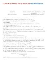 Đề thi thử THPT quốc gia môn toán sở GD đt tỉnh hòa bình   năm 2016 file word có lời giải chi tiết