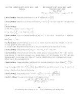 Đề thi thử môn toán 2016 trường THPT chuyên quốc học huế   lần 1