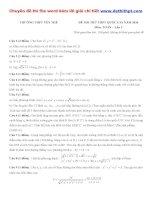 Đề thi thử THPT quốc gia môn toán trường THPT yên thế   lần 3   năm 2016 file word có lời giải chi tiết