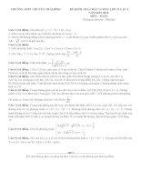 Đề thi thử môn toán 2016 trường THPT chuyên thái bình   lần 3