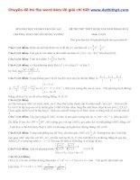 Đề thi thử THPT quốc gia môn toán trường THPT chuyên hùng vương   gia lai   lần 1   năm 2016 file word có lời giải chi tiết