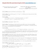 Đề thi thử THPT quốc gia môn toán trường THPT chuyên khoa học tự nhiên   hà nội   lần 4   năm 2016 file word có lời giải chi tiết