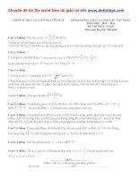 Đề thi thử THPT quốc gia môn toán trường THPT chuyên nguyễn huệ   hà nội   lần 1   năm 2016 file word có lời giải chi tiết