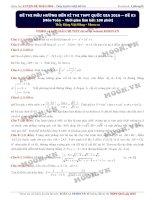 Đề thi thử môn toán số 3 thầy Đặng Việt Hùng