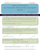 Luyện cấp tốc oxy  phương trình bất phương trình  hệ (phần 10)