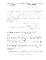 Đề thi học sinh giỏi toán hà nam 2016