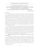 QUÁ TRÌNH ĐÔ THỊ HÓA Ở SÀI GÒN - THÀNH PHỐ HỒ CHÍ MINH TỪ NĂM 1860 ĐẾN NĂM 2008 VÀ NHỮNG KẾT QUẢ TÁC ĐỘNG ĐẾN SỰ PHÁT TRIỂN KINH TẾ XÃ HỘI CỦA THÀNH PHỐ