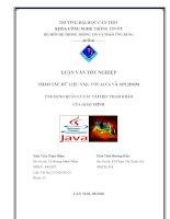 Thao tác dữ liệu XML với java và api jdom  ứng dụng quản lý các tài liệu tham khảo của giáo trình