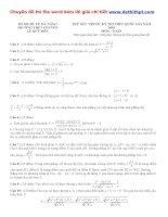 Đề thi thử THPT quốc gia môn toán trường THPT chuyên lê quý đôn   đà nẵng tháng 3 năm 2016 file word có lời giải chi tiết