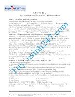 Bài tập đại cương hữu cơ hidrocacbon_bài tập hay nhất nên xem