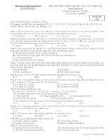 Đề thi thử môn hóa 2016 trường THPT chuyên nguyễn huệ lần 3 mã đề 209