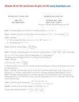 Đề thi thử THPT quốc gia môn toán sở GD đt phú yên   năm 2016 file word có lời giải chi tiết
