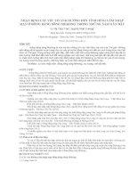 NHẬN ĐỊNH CÁC YẾU TỐ ẢNH HƯỞNG ĐẾN TÌNH HÌNH XÂM NHẬP MẶN Ở ĐỒNG BẰNG SÔNG MEKONG TRONG NHỮNG NĂM GẦN ĐÂY