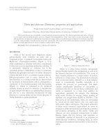 chitin and chitosan: Chemistry, propertíes and applications