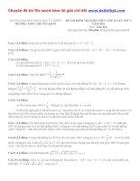 Đề thi thử THPT quốc gia môn toán trường THPT chuyên khoa học tự nhiên   hà nội   lần 5   năm 2016 file word có lời giải chi tiết