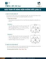 Giải toán về dòng điện không đổi vật lý 11