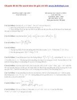 Đề thi thử THPT quốc gia môn toán trường THPT chuyên nguyễn huệ   hà nội   lần 3   năm 2016 file word có lời giải chi tiết