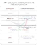 GMAT vocabulary flash cards476