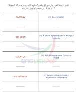 GMAT vocabulary flash cards117