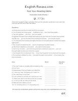 reading skills calculator code words 1 brb65