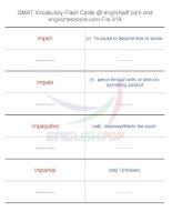 GMAT vocabulary flash cards319