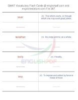 GMAT vocabulary flash cards387
