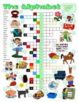 50606 the english alphabet  crossword