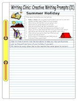 5844 writing clinic  creative writing prompts 11  summer holiday